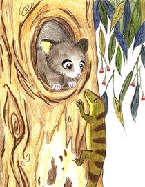 Lizard and Mister Possum von Inge Meldgaard