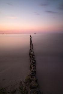 Buhnen am Strand von Warnemünde by Michael Zieschang