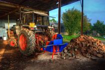 Tractor and the Logs  by Rob Hawkins
