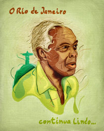 Brazilian Musicians - Gilberto Gil by Marcos Behrens