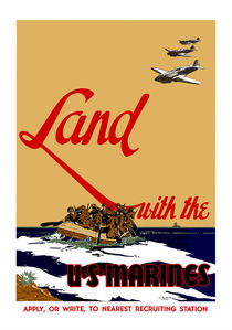 313-165-land-with-the-marines-poster