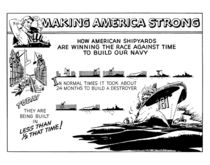 Making America Strong Cartoon -- WWII by warishellstore