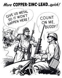 Give Us Metal So It Won't Happen Here -- WWII by warishellstore