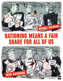 Rationing Means A Fair Share For All Of Us -- WWII by warishellstore