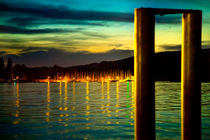 Nachts im Hafen von Bodman von Gina Koch