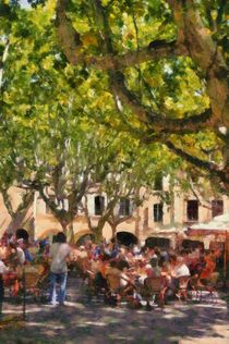 Lunch At Place Aux Herbes by Gaby Martin