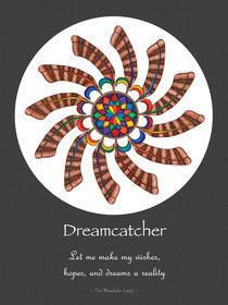 Dreamcatcher Mandala Poster - Full Color w/grey matt & Msg by themandalalady