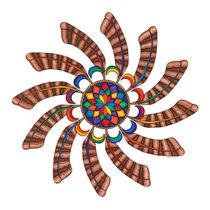 Dreamcatcher Mandala Print - Full Color by themandalalady
