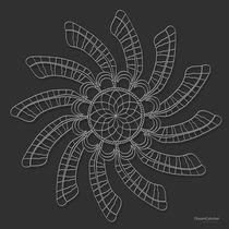 Dreamcatcher Mandala Print - White on Grey von themandalalady
