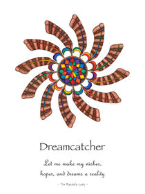 Dreamcatcher Mandala Poster - Full Color, w/Msg von themandalalady