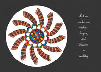 Dreamcatcher Mandala Card - Full Color, Grey Matte w/Msg by themandalalady