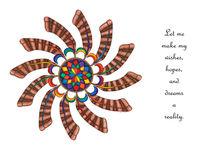 Dreamcatcher Mandala Card - Full Color w/Msg by themandalalady