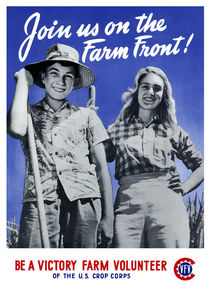 Be A Victory Farm Volunteer -- WWII by warishellstore
