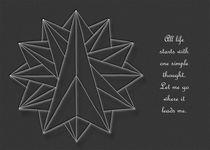 Crystalite Mandala - Card: white on grey w/msg by themandalalady