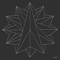 Crystalite Mandala - Print: White on Grey by themandalalady