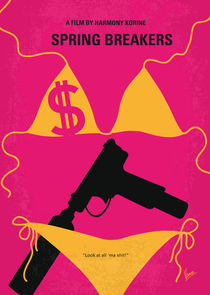 No218 My SPRING BREAKERS minimal movie poster von chungkong