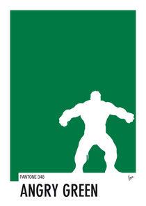 My Superhero 01 Angry Green Minimal Pantone poster by chungkong