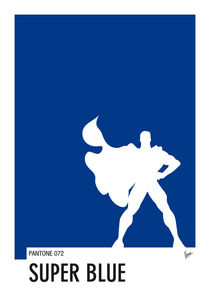 My Superhero 03 SuperBlue Minimal Pantone poster by chungkong