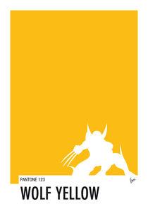 My Superhero 05 Wolf Yellow Minimal Pantone poster by chungkong