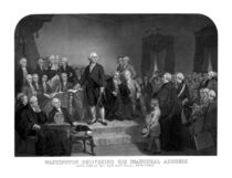 Washington Delivering His Inaugural Address von warishellstore