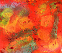 Orange Freen Painting  by Julia Fine Art