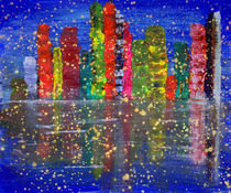 Abstract Landscape Cityscape  by Julia Fine Art