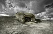 Gun at Longues-sur-mer  von Rob Hawkins