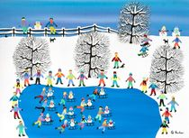 Snowman race by Gordon Barker