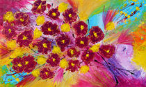 Abstract Flowers  by Julia Fine Art