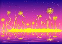 Alien Fire Flowers by Anastasiya Malakhova