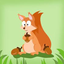 Waldtiere Serie Eichhörnchen von Michaela Heimlich