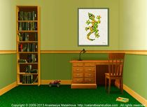 Interior-design-idea-little-lizard-animal-art-anastasiya-malakhova