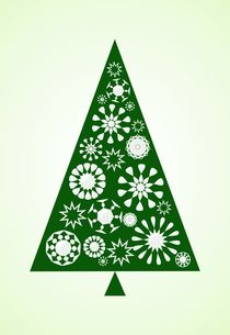 Pine Tree Snowflakes - Green von Anastasiya Malakhova