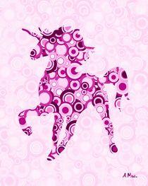 Pink Unicorn - Animal Art von Anastasiya Malakhova