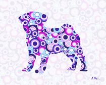 Pug - Animal Art by Anastasiya Malakhova