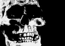 Skull-black-white-portrait