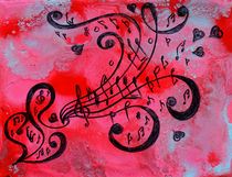Music Abstract by Julia Fine Art