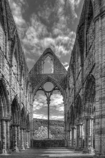 Tintern Abbey in Monochrome by David Tinsley