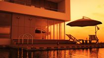 Poolside Sunset by Liam Liberty