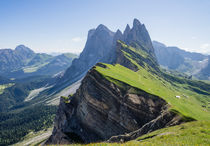 Geisler/Odle Group, Alpe di Seceda, Dolomites by Tom Dempsey