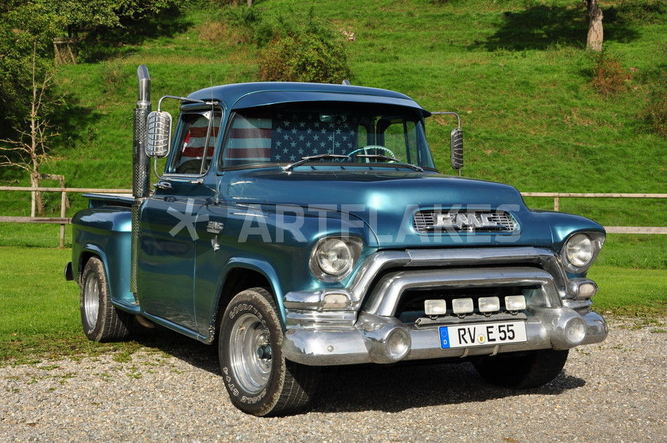 1955 gmc stepside pickup fotografie als poster und kunstdruck von mark gassner bestellen. Black Bedroom Furniture Sets. Home Design Ideas