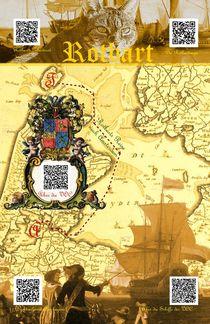 Rotbartsaga Poster 1QR (illustrierte Seekarte) by Wolfgang Schwerdt