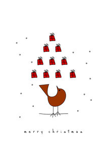 christmas tree and the bird von thomasdesign