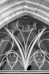 Fenster der Marienkirche Torgau, schwarzweiss Foto von Kathleen Schulze