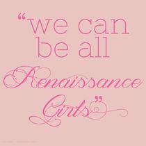 Renaissance Girls von Nina Mazeo