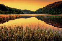 Sunset on Scottish Loch by Sam Smith