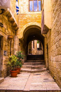 Narrow streets of old city. by slavamalai