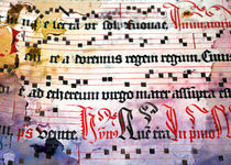 Choral Book Middle Ages - Music Vintage Art Prints Grunge Texture von Denis Marsili