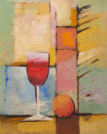 Glas Wein by Lutz Baar