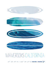 My Surfspots poster-2-Mavericks-California by chungkong